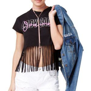 Lady Gaga Joanne Tour Juniors' Cotton Fringed T-Sh